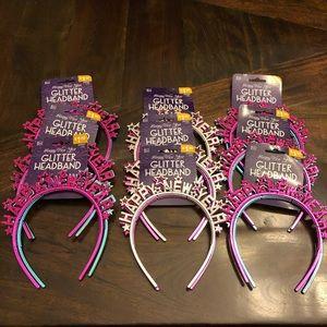 Happy New Year Glitter Headband Packs NWT